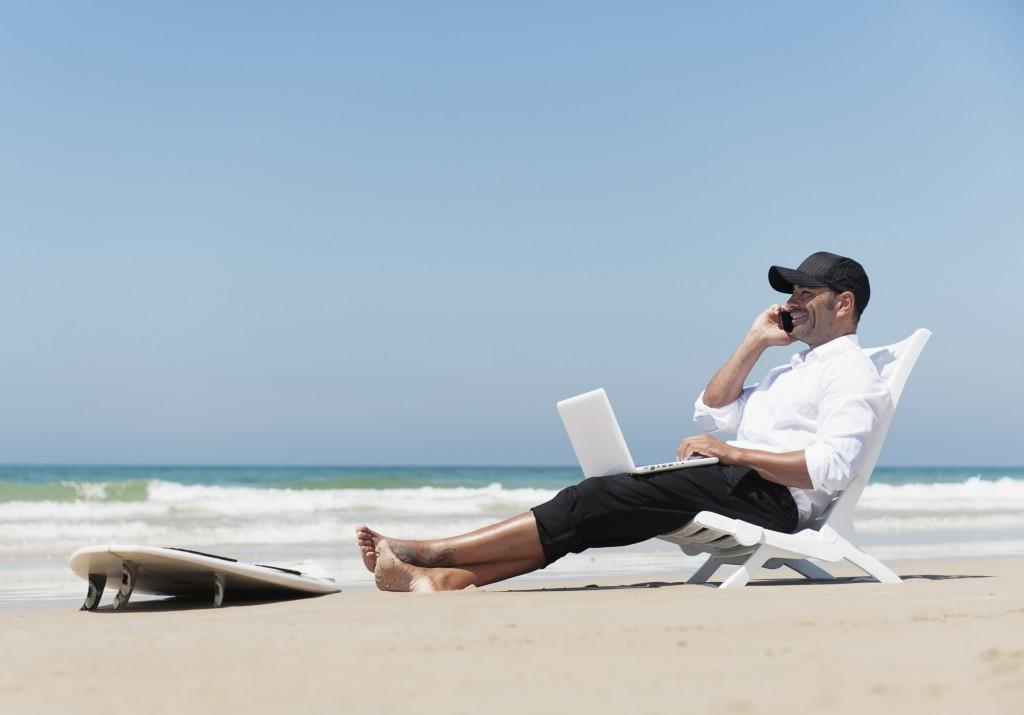 telefoniranje na plaži