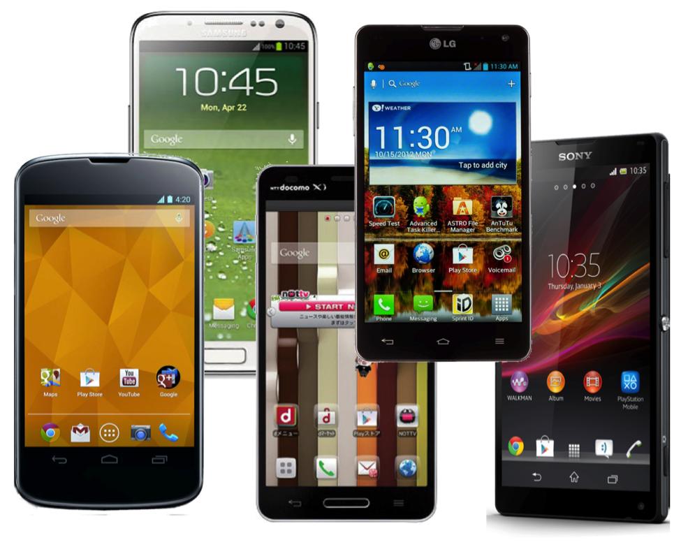 5 android telefona