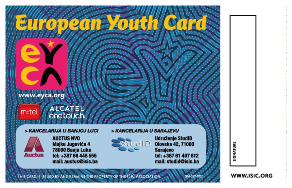 ISIC&EYCA kartica