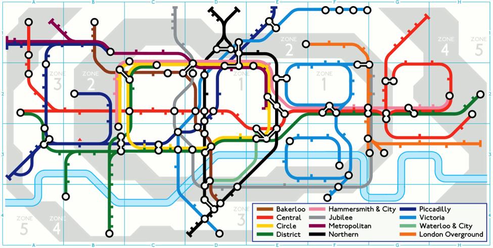 5 Mapa metroa u Londonu