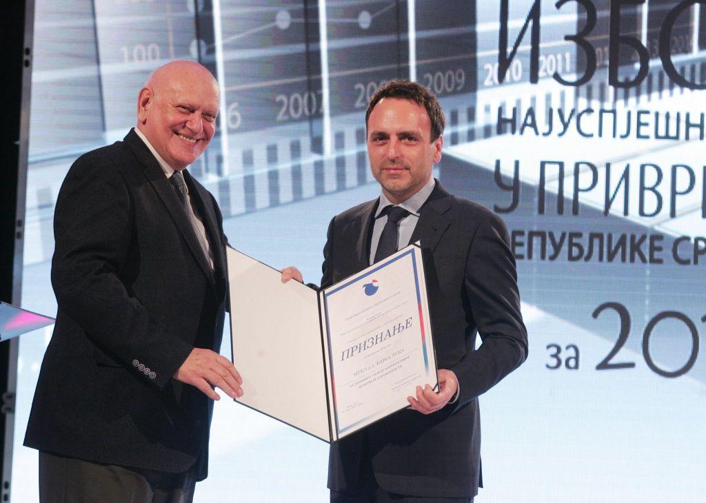 Djordje Misic, Mtel dobitnik nagrade za CSR