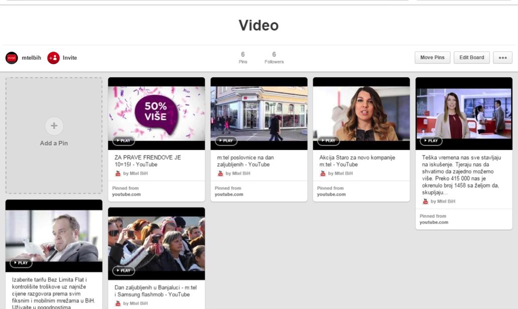 Video dio Pinteresta