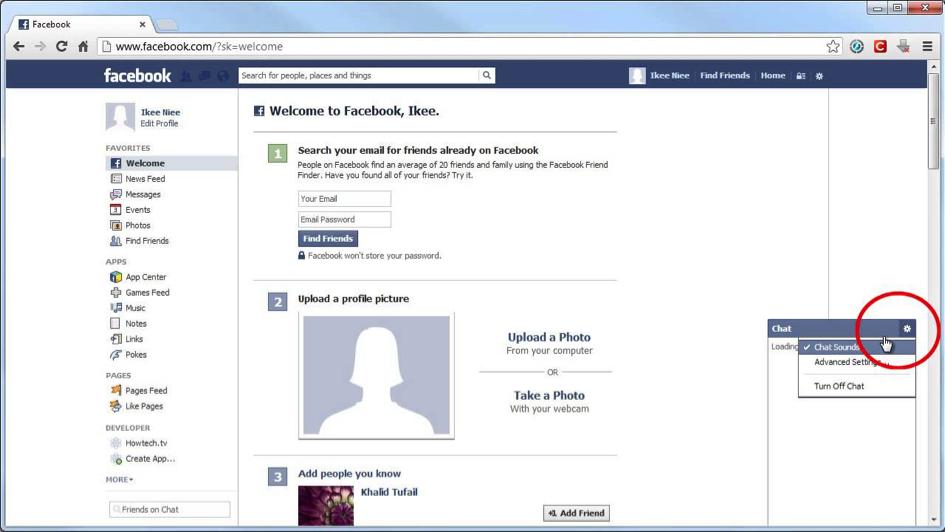 facebook chat zvuk