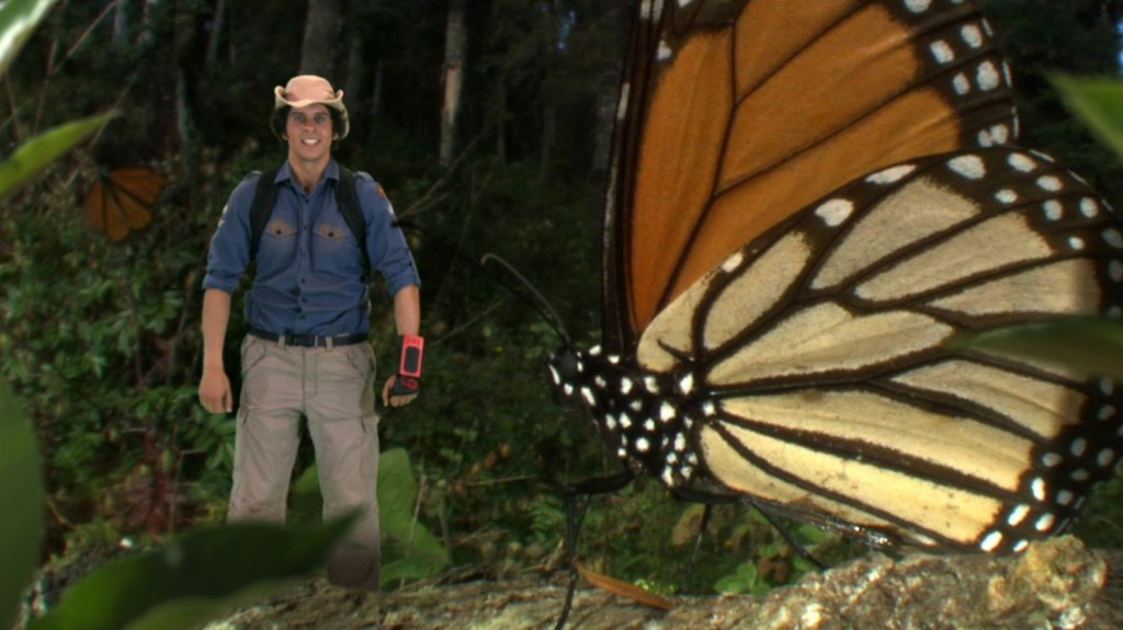 Andy shrunk to the size of a monarch butterfly