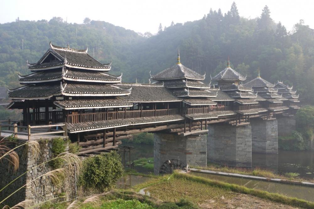 Čengjang most vjetra i kiše, Kina