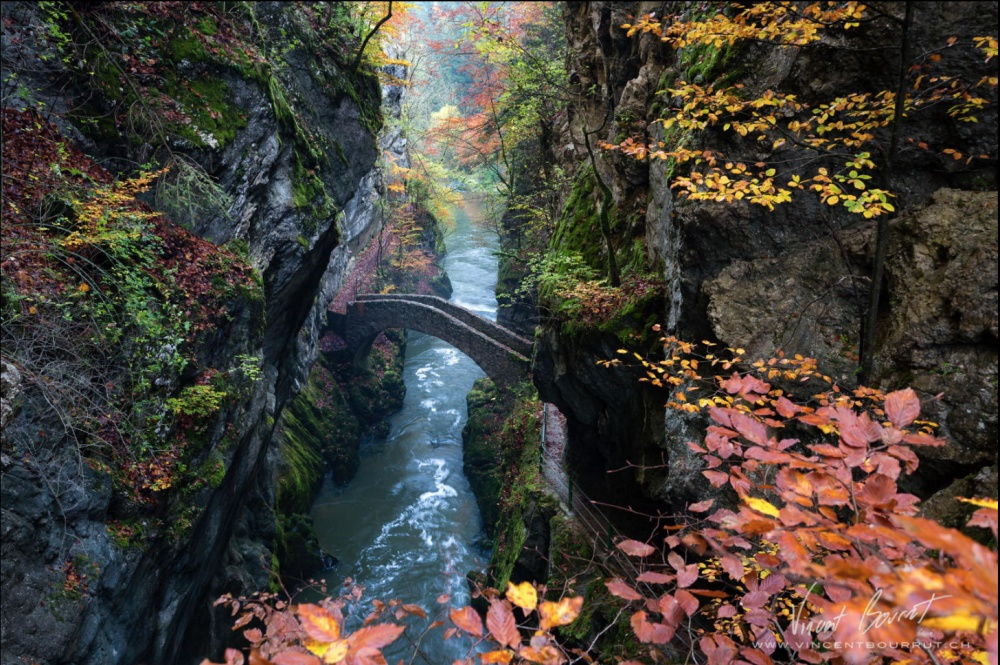 Kameni most u klisurama Arez, Švajcarska